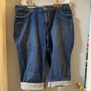 Venezia sz20 denim folded cuff crop jeans